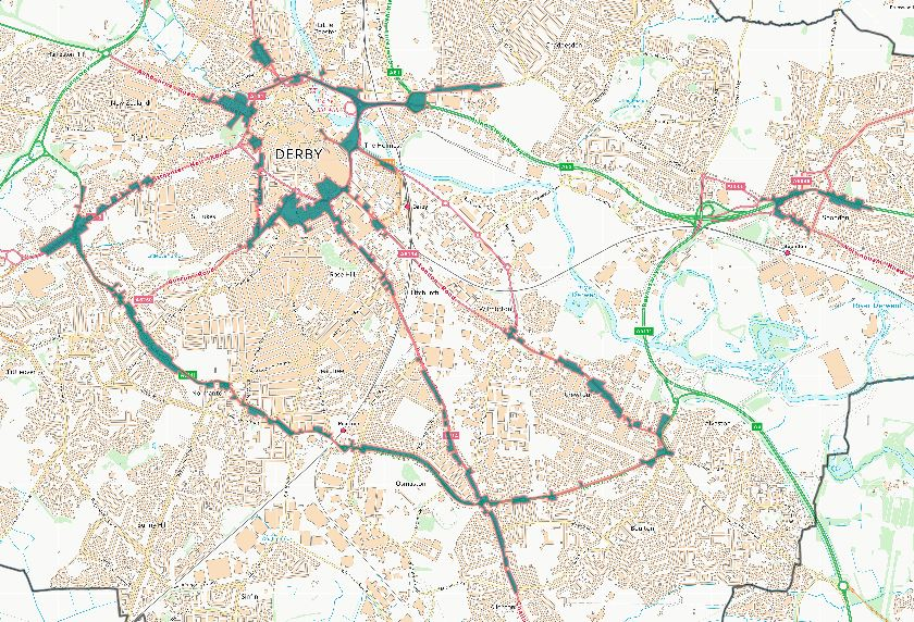 Map Of Uk Derby.Air Pollution In Derby And Other Green Forum Matters Derby Climate